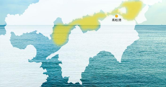 散骨エリア(瀬戸内海)